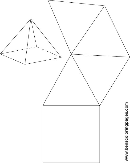 Free rectangular prism base coloring pages