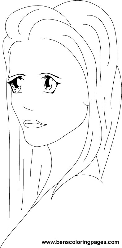 lady rapunzel coloring pages