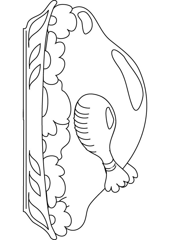 Roast Duck Coloring Page Online