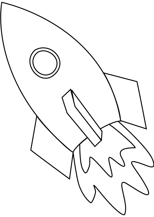 Space Ship Coloring Pages Online Rocket Ship Coloring Page