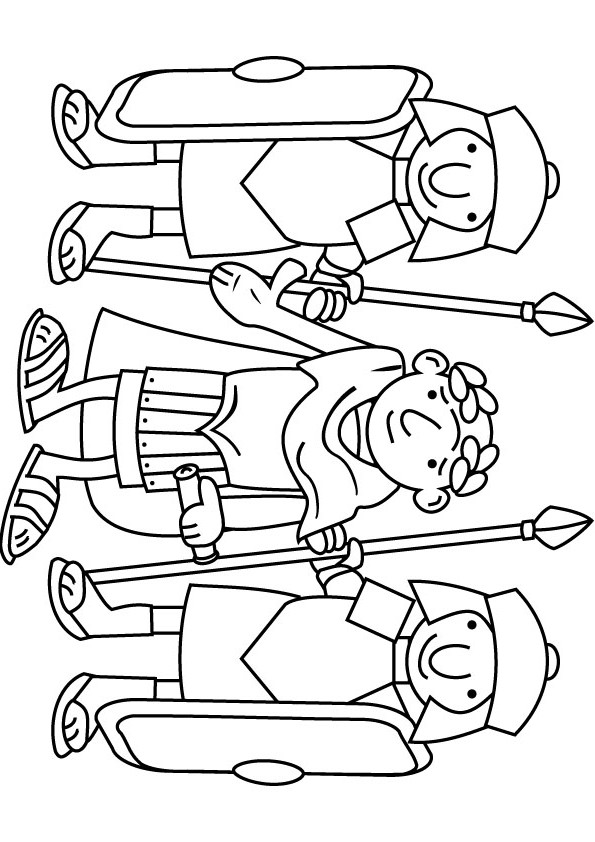 roman coloring pages free - photo#32