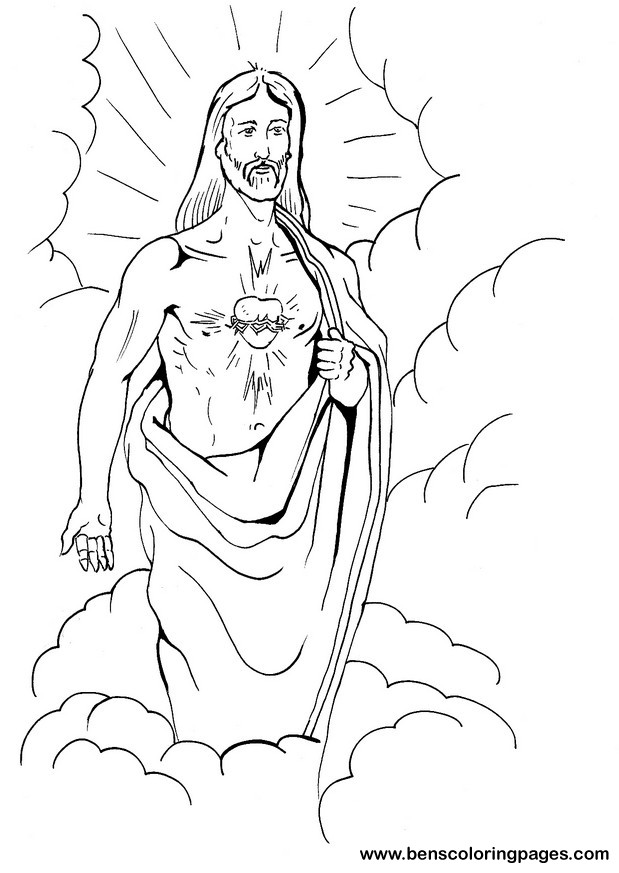 Free Sacred Heart Of Jesus Coloring Pages