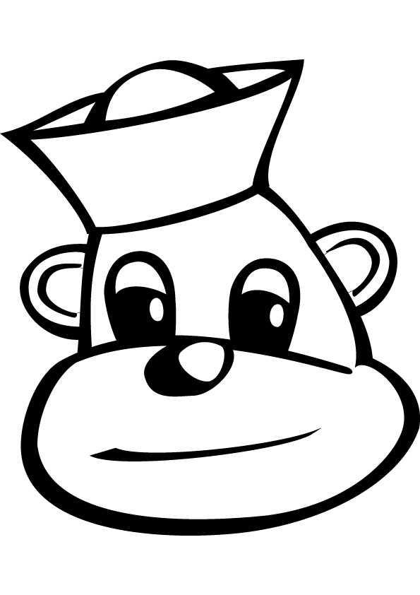 Sailor monkey coloring page online.
