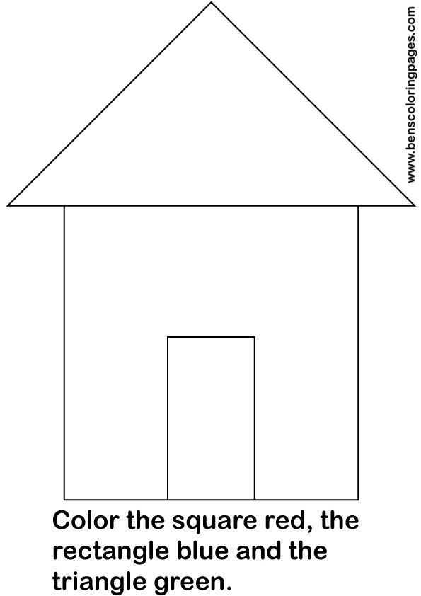 simple shapes educational worksheet for school