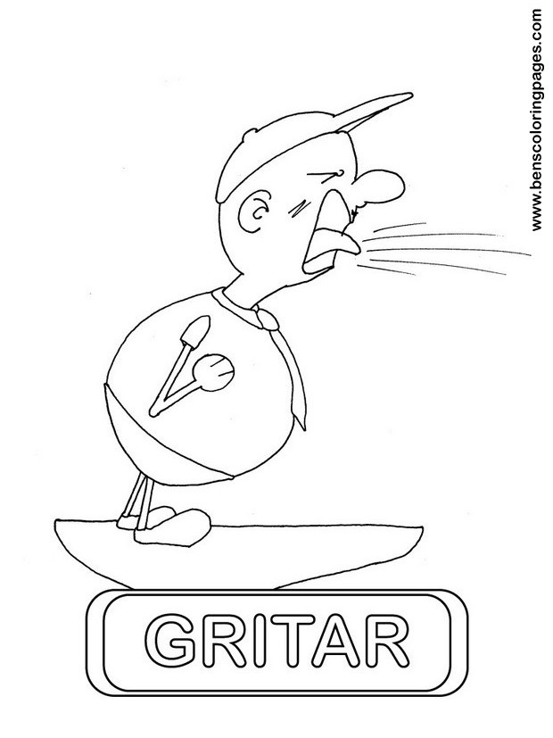 gritar coloring picture