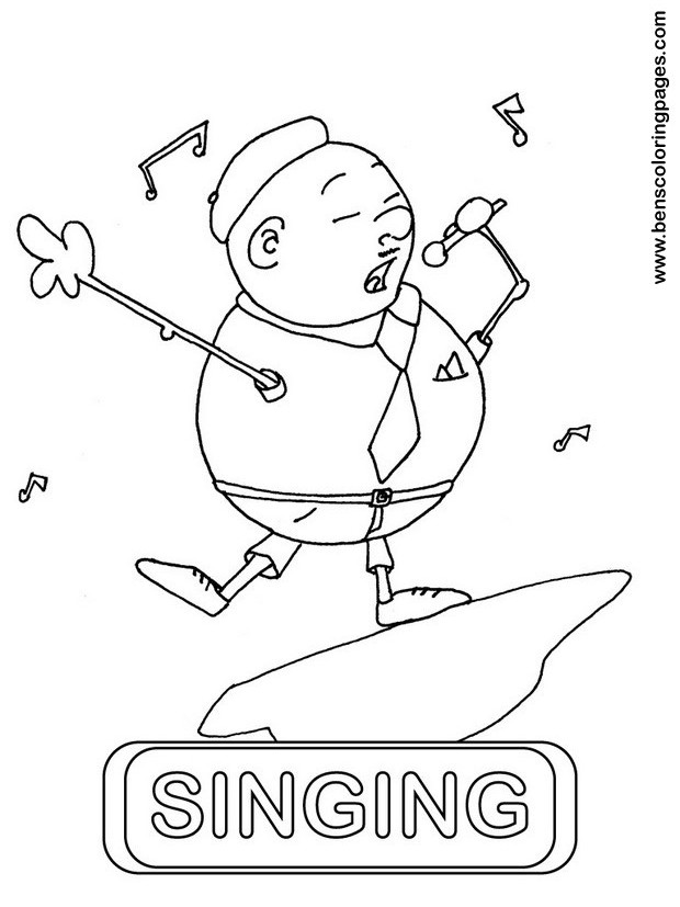Singing Printable Coloring Pages Singing Coloring Pages