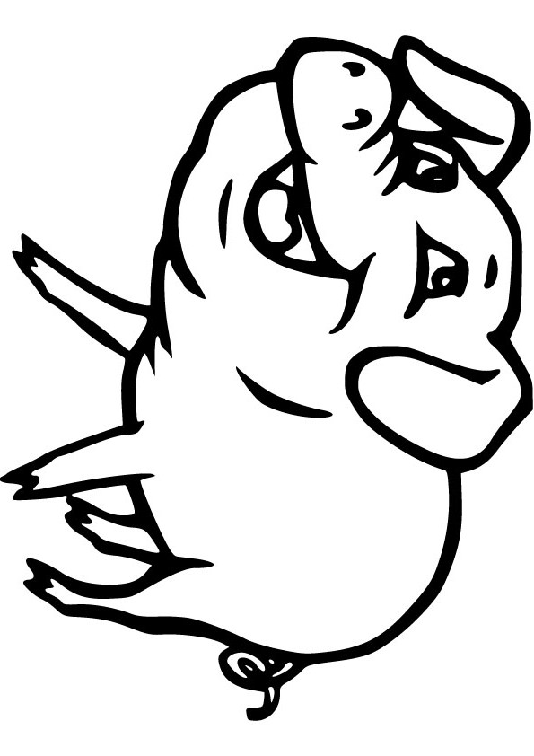 Smiling Pigs Free Coloring Pages Pictures
