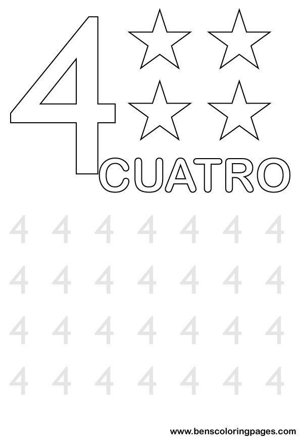 number four writing in spanish