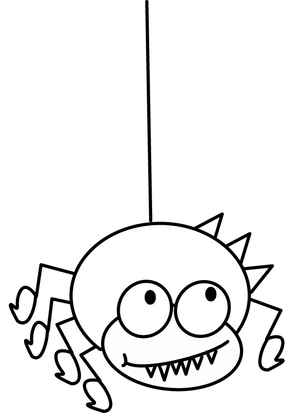 Wacky spider coloring page