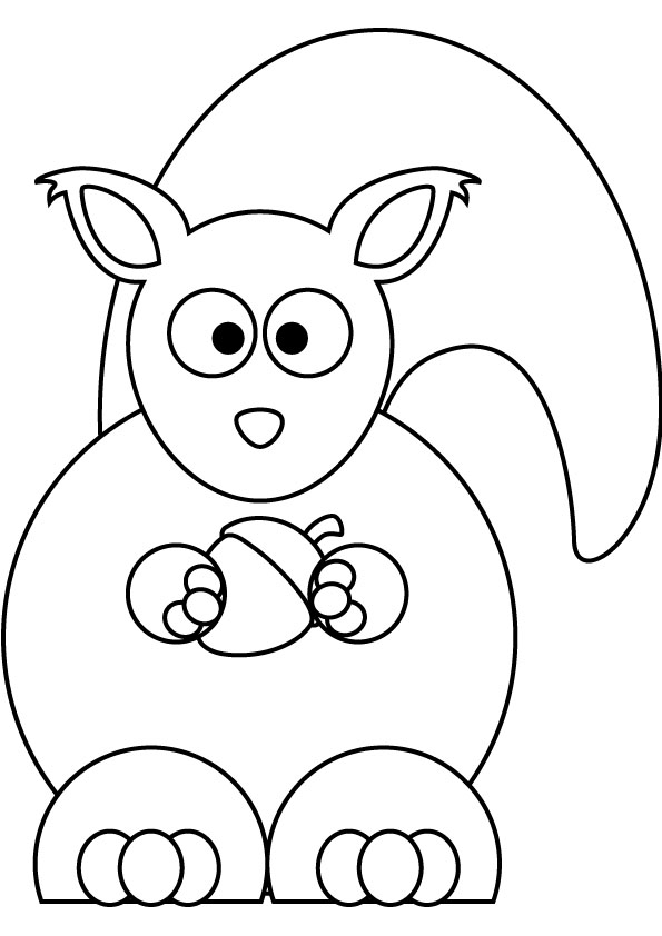 Baby squirrel coloring pages pictures