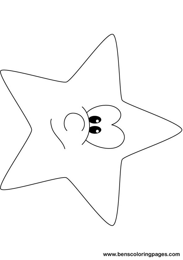 Funny star coloring pages