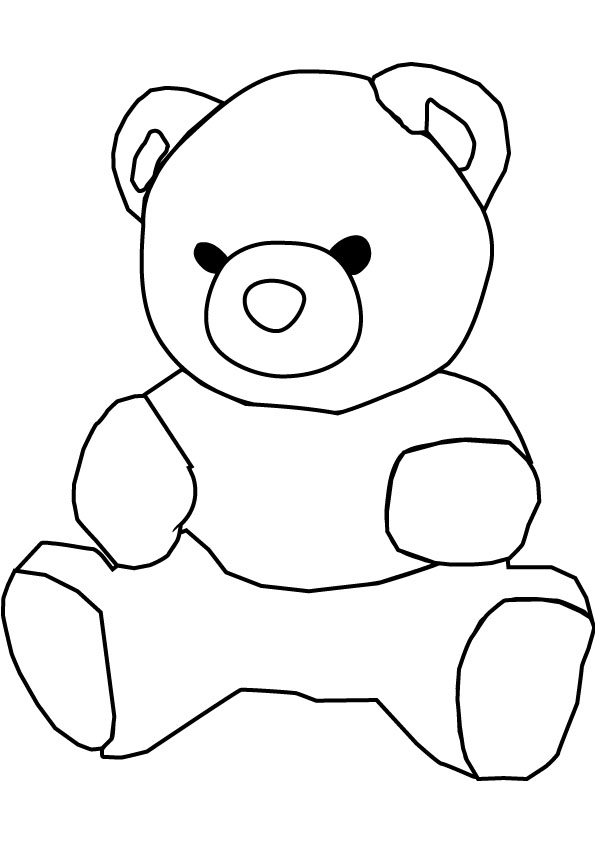 Teddy bear coloring pages animal pictures