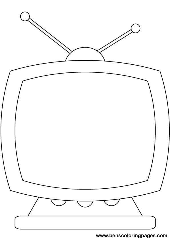 Watch tv coloring sheet coloring pages for Tv coloring page