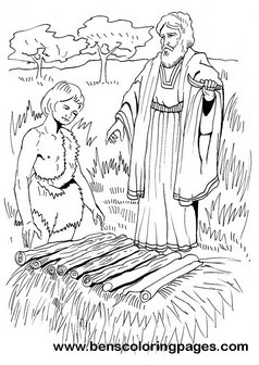 Abraham Sacrifices Isaac Coloring Page And Bible