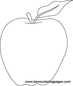 cookbook template mac - apple coloring pages printable