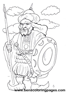 arab warrior children coloring pages