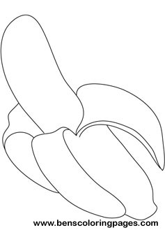 Banana Printable Coloring Book