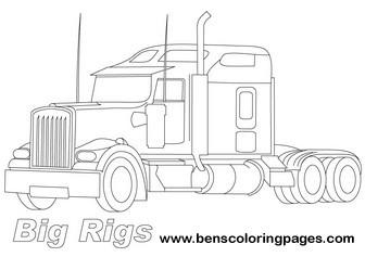 Big Rig Coloring Pages #2