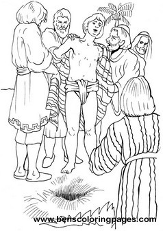 sell coloring pages - joseph from the bible coloring pages