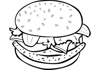 hamburger coloring pages Burger coloring pictures hamburger coloring pages