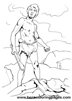 Cain kills abel coloring book