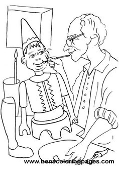 Pinocchio coloring page
