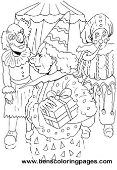 circus printable coloring pages