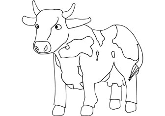baby cow drawing page