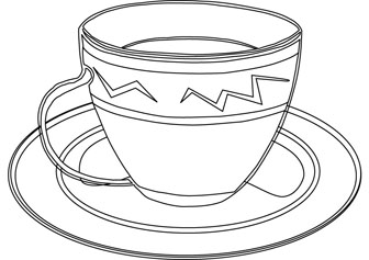 Glass Cup Coloring Page Glass Cup Coloring Page