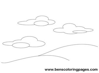holy creation day 2 drawing - Creation Day 2 Coloring Page