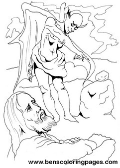 Jesus Temptation Coloring Page In The Desert