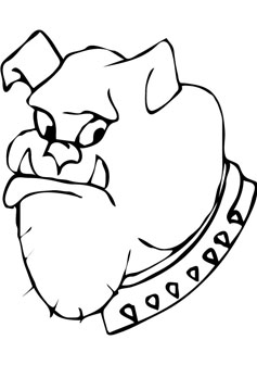 Bull Dog Free Coloring Page