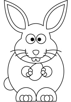 easter bunny drawing book