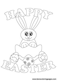 happy easter bunnies drawing book