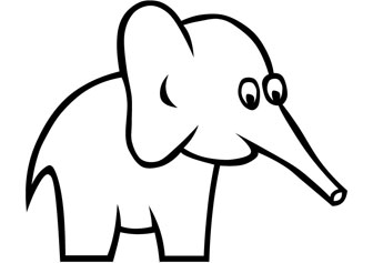 how to draw a baby elephant easy