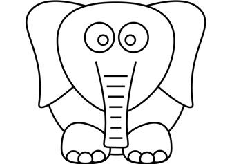 Download free elephant dumbo coloring book