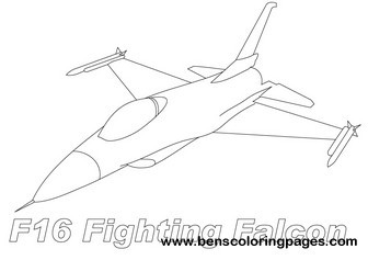 f16 jet coloring pages