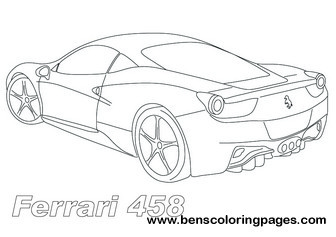 ferrari sportscars coloring pages