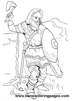 Frank warrior children coloring pages