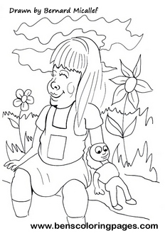 girl doll printable coloring pages