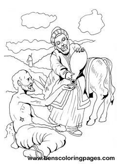 good samaritan coloring page good samaritan parable - Good Samaritan Coloring Pages