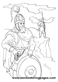 Gothic warrior children coloring pages