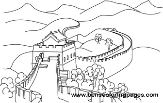 great wall of china printable coloring pages | Great Wall of china free coloring book