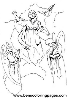 Blessed Mother Coloring Sheets  Coloring Pages For Kids and All Ages