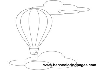 Hot air balloon online coloring book