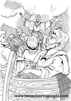 Jesus Calms The Storm Coloring Page Stunning Bible Coloring Pages