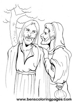 This free coloring page shows Jesus