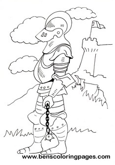 knights children coloring pages