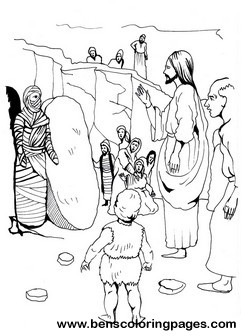 lazarus story coloring pages