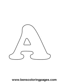 letter A drawing